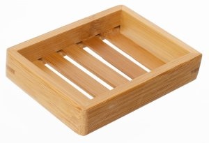 Rectangle Bamboo Slatted Soap Dish